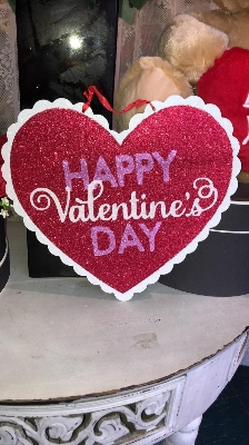 Happy Valentines Day Plaque