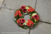 Orange and Red Wreath