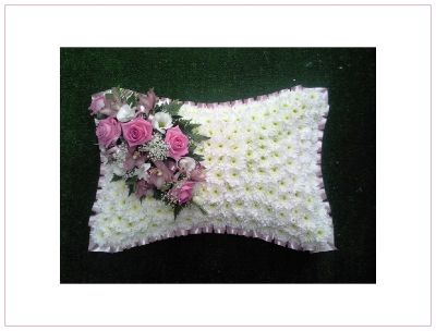 Pink & White Pillow