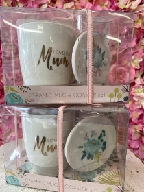 Loveliest Mum mug and coaster set