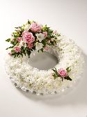 White based Pink Wreath