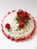 Classic White Base Posy Red