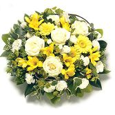 Yellow open posy