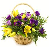 Purple & Yellow Basket
