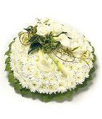 Classic White Base Posy Green edge